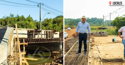 Gran avance de la construcción del puente que unirá los barrios de Cambyretá y Encarnación