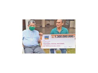 Talismán con un  millonario aporte para compra de kits