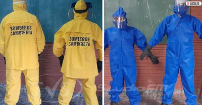 Bomberos de Cambyretá solicitan a la ciudadanía no alarmarse ante utilización de equipos de bioseguridad