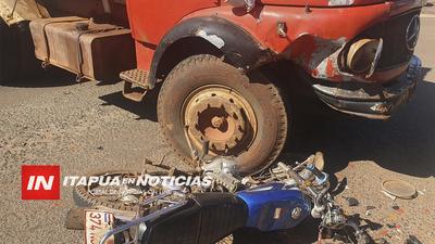 MOTOCICLISTA HERIDO TRAS FUERTE COLISIÓN SOBRE RUTA 1