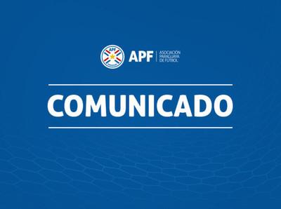 General Díaz y Sportivo Luqueño, primeros clubes en recibir el aporte de la APF para sus jugadores
