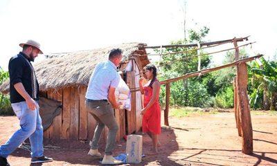 Comunidades indígenas del área de influencia de Itaipú recibieron cerca de 60.000 kg de alimentos