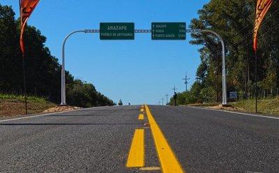 Gobierno inaugura asfalto en tramo San Miguel-Arazapé-Puerto Garata