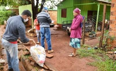Familias de Alto Paraná ya recibieron más de 430.000 kg de alimentos
