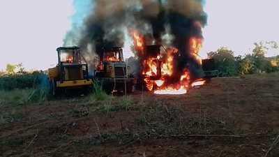 Desconocidos atacaron estancia y quemaron tractores en Yby Yaú