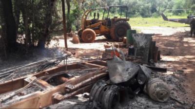 HOY / Posible secuestro en Amambay y quema de maquinarias: El EPP estaría detrás del nuevo ataque