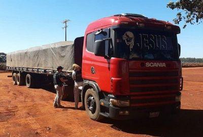 Senad intercepta un convoy narco que trasladaba marihuana en Colonia Mbaracayú