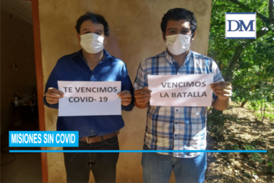 Misiones sin COVID 19; !los dos roseños infectados ya están recuperados!