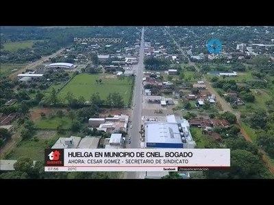 FUNCIONARIOS DE LA MUNICIPALIDAD DE CNEL. BOGADO HACEN ''BRAZOS CAÍDOS'' POR NO COBRAR SALARIOS