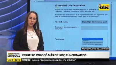 Ferreiro ubicó a más de 1.000 funcionarios en la intendencia