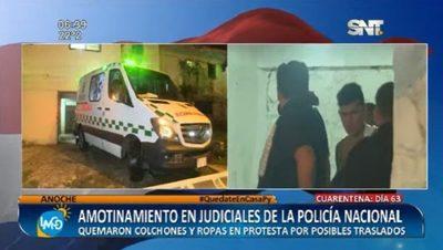 Sede policial sufre amotinamiento de internos