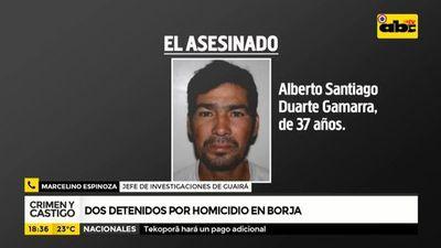 Dos detenidos por homicidio en Borja