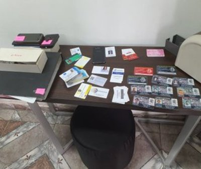 Imprenta donde falsificaban documentos fue allanada