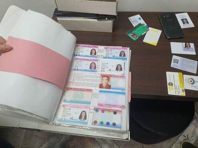 Desbaratan imprenta donde supuestamente falsificaban documentos