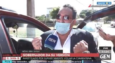 Hugo Javier justifica almuerzo en la gobernación