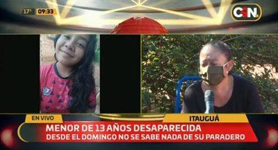 Denuncian desaparición de menor de 13 años en Itauguá