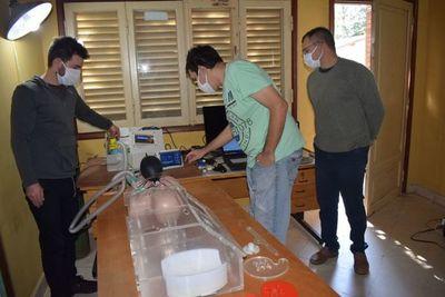 Fabrican prototipo de respirador en Ayolas