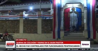Incendio en el Buen Pastor es controlado por funcionarios del penal