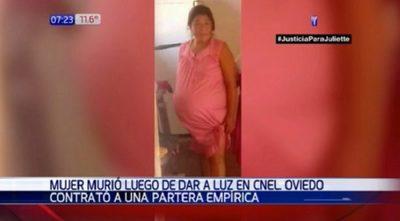Mujer muere tras dar a luz con partera empírica