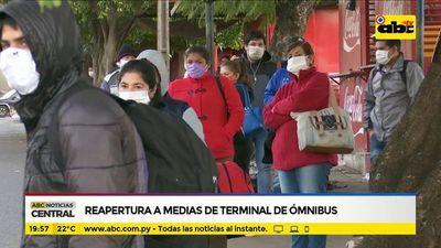 Reapertura a medias de Terminal de Ómnibus