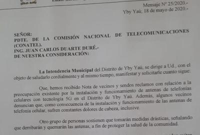 Amenazan con quemar antena de telefonía e intendente pide mediación de CONATEL