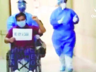 """""""Sentía dolores"""", dijo primer paciente de alta en Oviedo"""