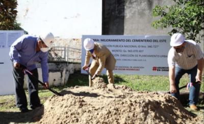 HOY / Dan inicio a mejoramientos en el cementerio del este de Asunción