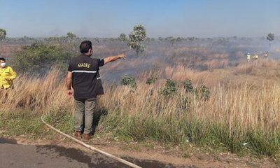 Reportan incendio en zona de la ruta Luque – San Ber