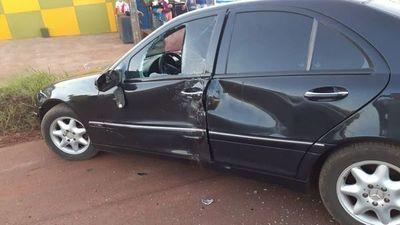 Motociclista sufre lesiones en accidente