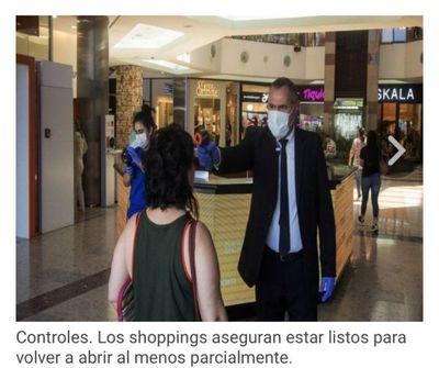 Shoppings piden al Gobierno anticipar apertura para el 25
