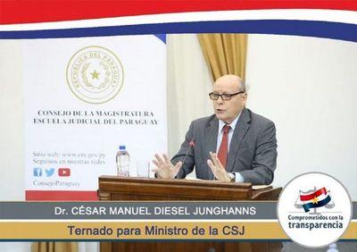 Senado: Mediante pacto abdocartollanista eligen a César Diesel para la Corte