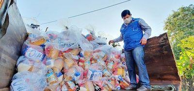 Plan entrega kits de alimentos a familias