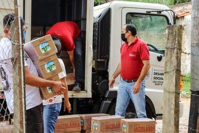 Comedores comunitarios de bañados reciben 7.800 kilos de alimentos