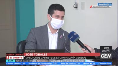 HOY / José Torales, director de Gabinete de la Contraloría, sobre el informe relacionado a las compras de insumos médicos y equipos hospitalarios