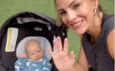 Maga Páez ahora se ejercita en compañía de su hijo