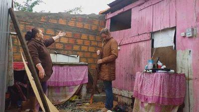 Temporal causa destrozos en asentamientos de Coronel Oviedo
