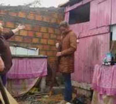 Varias familias quedaron sin techo tras fuerte temporal