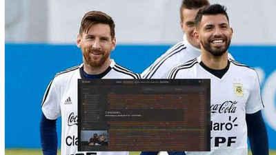 La imperdible charla entre el Kun Agüero y Lionel Messi, en plena transmisión
