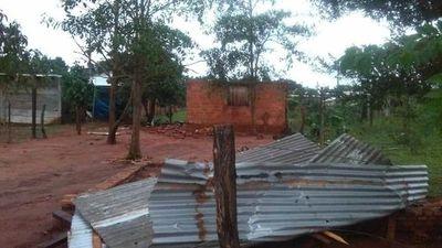 Temporal en Canindeyú afectó a 50 familias