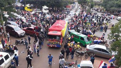 Repudian caravana política en CDE por ser potencial fuente de contagio