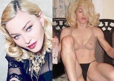 Madonna mostró su cuerazo y ¡algo más!