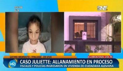 Realizan nuevo allanamiento en Ypacaraí buscando a Juliette