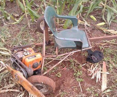 Colono sufre graves heridas causadas por vehículo que él fabricó, en Iruña – Diario TNPRESS