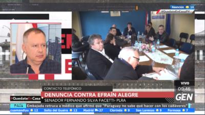 HOY / Senador Fernando Silva Facetti, sobre denuncia contra Efraín Alegre