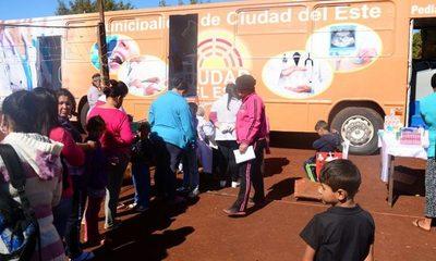 Clínica Móvil Municipal ya brinda asistencia médica a las familias más necesitadas de CDE