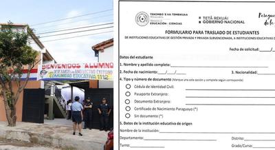 MEC HABILITÓ TRASLADO DE ALUMNOS DE COLEGIOS PRIVADOS A NACIONALES