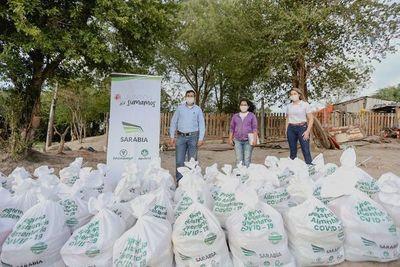 Grupo Sarabia donó 800 kits de alimentos en Villeta