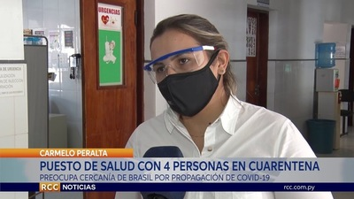 PUESTO DE SALUD DE CARMELO PERALTA CON 4 PERSONAS EN CUARENTENA