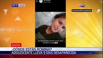 Adolescente se encuentra con paradero desconocido desde hace nueve días