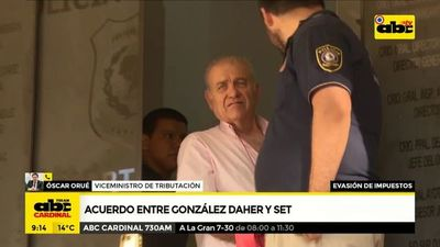 Acuerdo entre González Daher y la SET